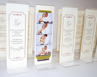 Photo Booth Party Favor Acrylic Frames with Personalized Inserts