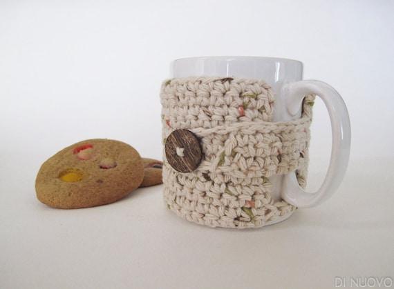 Crochet Mug Cozy: Rustic Natural Yarn