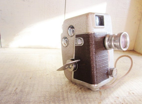 Vintage movie camera revere 8mm 1950 industrial chic mid - Camera industrial chic ...