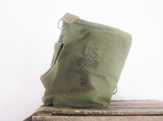 Vintage U.S. Military Back Pack Tote Army Green Khaki Canvas WWII