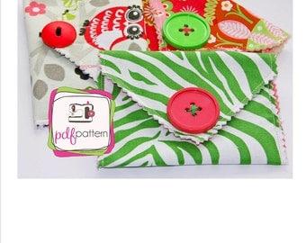 pdf Super Duper Easy Wallet Sewing Pattern - INSTANT DOWNLOAD!!!