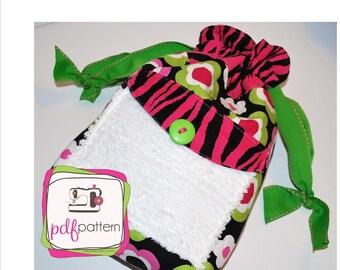 pdf Lunch Sack sewing pattern BONUS Reusable Sandwich Bags - INSTANT DOWNLOAD!