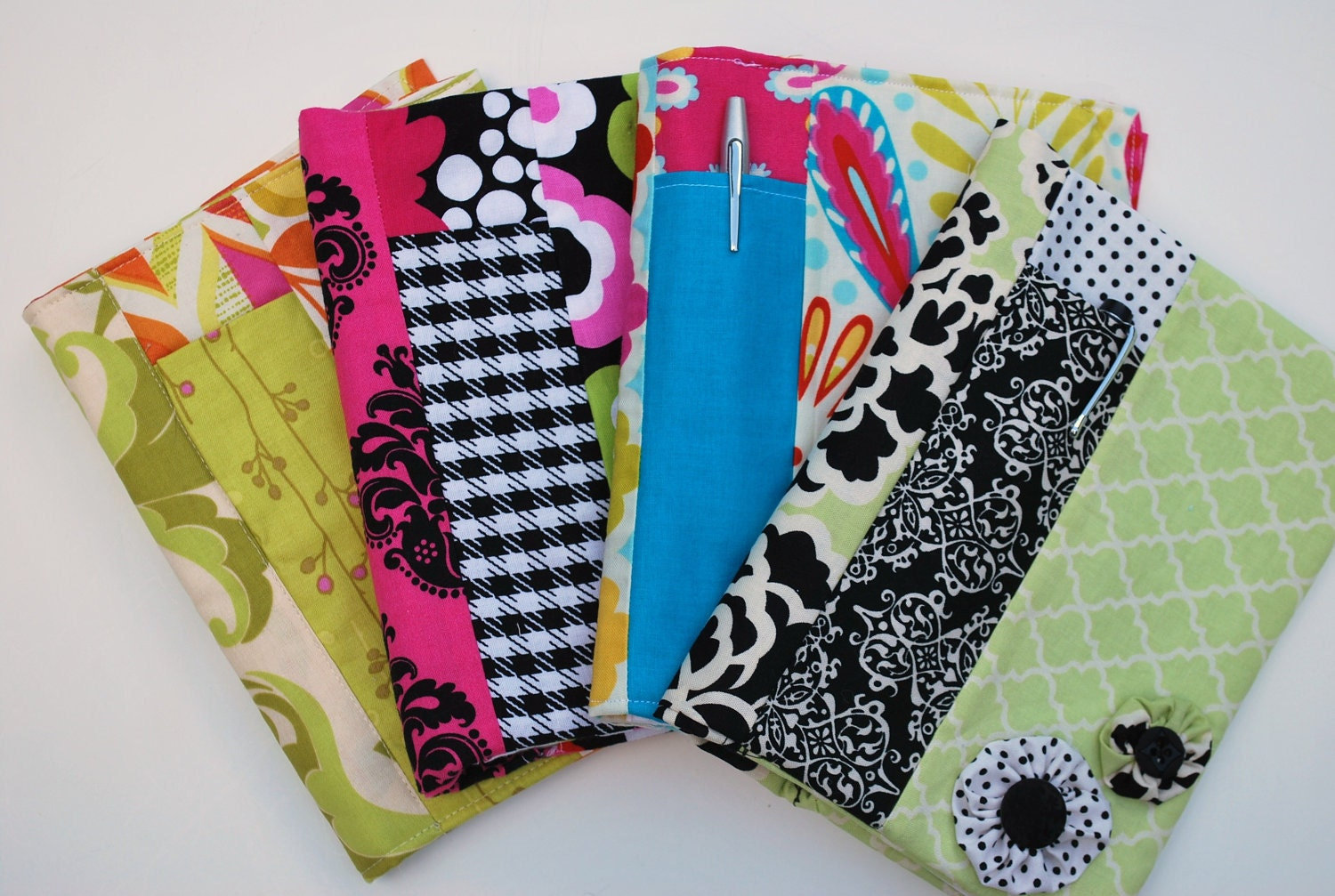 Notebook Cover Pattern ~ Pdf spiral fabric notebook cover sewing pattern sizes