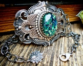 Atlantis Filigree Bracelet Silver Filigree Cuff Bracelet Gothic Beach Boho Bohemian Cuff Bracelet Filigree Antique Vintage Style Jewelry