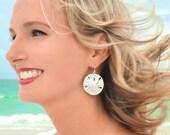 Sand Dollar Earrings Silver Sand Dollar Earrings Sand Dollar Jewelry Sand Dollar Wedding Sterling Silver Beach Jewelry Earrings Gift for Her