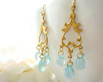 Chandelier Crystal Earrings Marie Antoinette Earrings Chandelier Bridal Earrings Gold Victorian Rococo Crystal Chandelier Earrings Gift