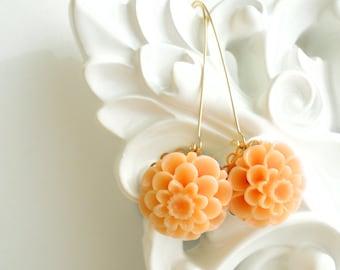 Flower Earrings Flower Cabochon Marie Antoinette Flower Cabochon Dangle Earring Flower Earring Resin Flower Jewelry Dangle Earring Gift