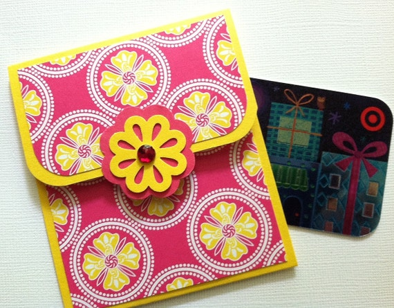 Gift Card Holder, Birthday Gift Card Holder, Baby Shower Gift Card Holder, Graduation, Thank You, Teacher Gift by Terry's Cards