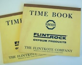Flintkote and Flintrock Gypsum Products Time Books, for Keeping Hourly Wages of Drywallers, 1963-1964