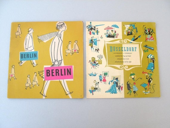 Berlin and Dusseldorf Germany Tourist Guide Booklets 1950's 1960's