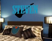 Personalized Guitar Removable Wall Decal
