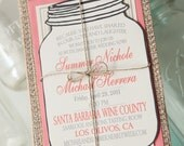 Burlap Invitations (rsvp postcard and outer envelope included)