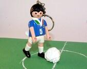 Playmobil keychain. Player of Italian national football team.