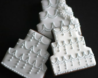 Wedding Cake Cookies Favors