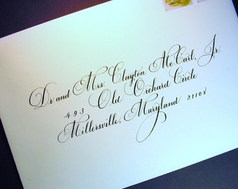 Wedding Envelopes in Calligraphy