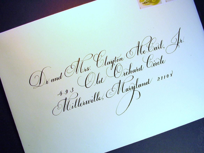 Diy Addressing Wedding Invitations: Calligraphy Wedding Envelope Addressing