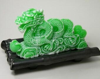 Dragon Soap on Handmade Ceramic Dish