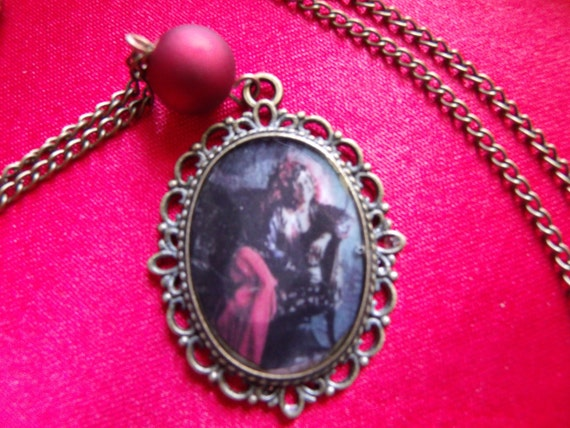 Janis Joplin Pearl Album Cover Photo Pendant Necklace