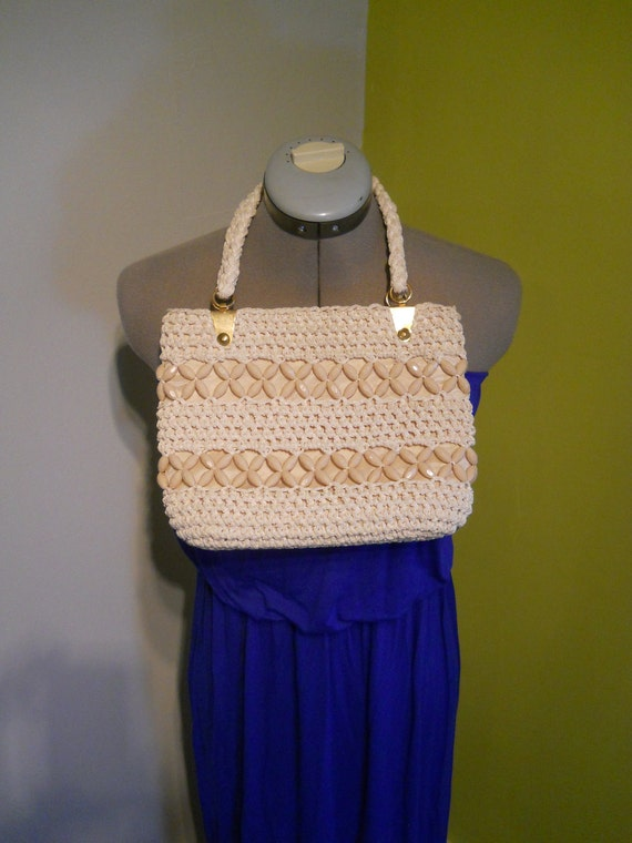 Beaded macrame bag handmade in Italy