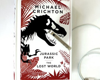 Jurassic Park booksi for iPhone or Android - Leather Book Dock