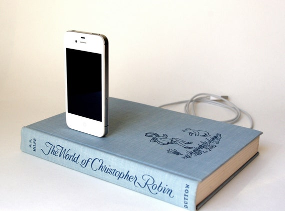 Christopher Robin iPhone and iPod Vintage Book Charging Dock - A.A. Milne