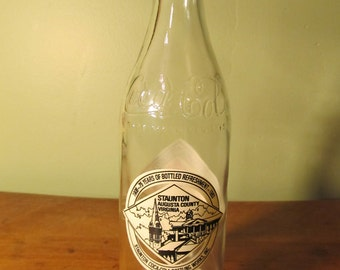 75th Anniversary Commemorative Coca-Cola Bottle - Staunton Virginia 1983