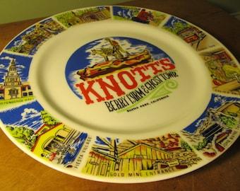 Vintage Knott's Berry Farm & Ghost Town Souvenir Plate