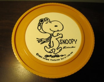 Vintage Snoopy Harvest Orange Thermos Insulated Jar