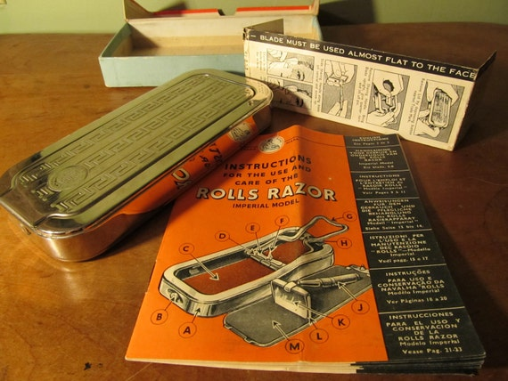 Vintage Rolls Razor in Original Box with Instructions