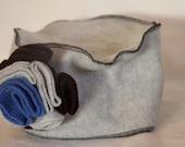 Grey and Black Pillbox Hat - Adult
