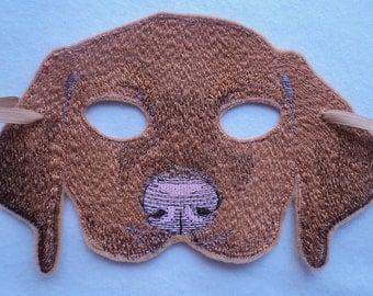 Brown Puppy Mask - Child