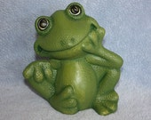 Handpainted Ceramic Little Green Frog