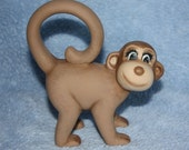 Handpainted Little Ceramic Monkey in brown listing is for one baby monkey