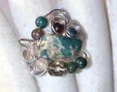 Impression Jasper Ring
