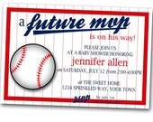 Future M V P   Baseball Baby Shower Invitation --- Digital Copy ---