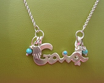 Sterling Silver Hand Made Name Necklace