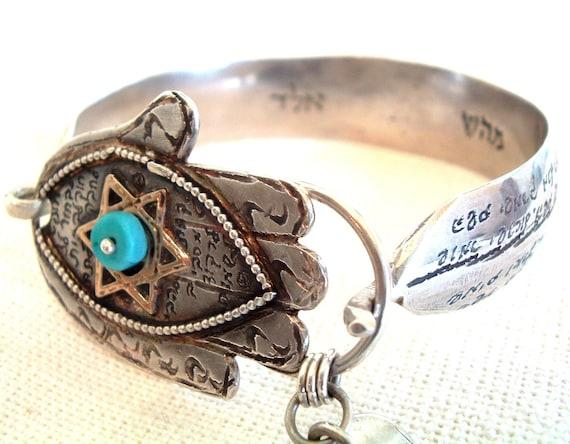 Silver And Gold Hamsa Bracelet
