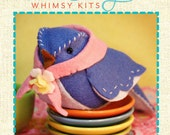Bird Sewing Kit, Felt Bird Ornament, Felt Bird Craft Kit, DIY Sewing, Beginner Sewing Kit - 'Betty Bluebird' Heidi Boyd