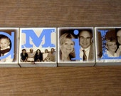 Personalized Photo Blocks- FAMILY photo set- wedding gift for your parents- set of SIX Letter Blocks