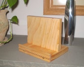 Stand for Apple iPad, Kindle, iTablets, PC Tablets, Internet Tablets, Galaxy Tab - Natural Wood Finish