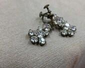 Vintage 1920s Screwback Austrian Crystal Drop Earrings
