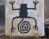 Spiral Figure Petroglyph on Stone