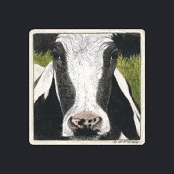 Cow Matted/Signed Giclee  Print