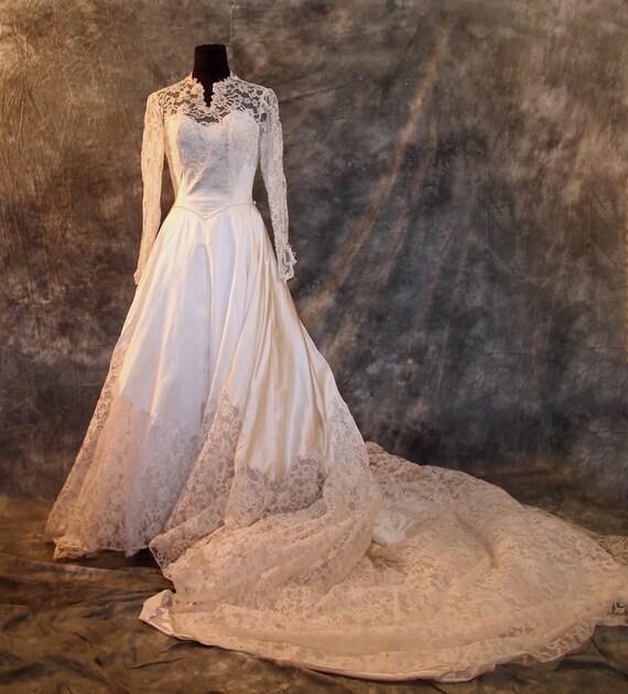 Vintage Wedding Dresses Etsy: 1955 Vintage Wedding Dress White S