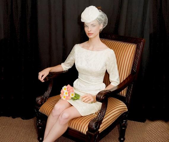Emma Domb Cocktail Or Informal Wedding Dress S 60s/70s
