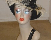 Vintage Feather Accented Durby Style Doeskin Hat 60's