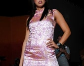 Pink Oriental Cheongsam Dress