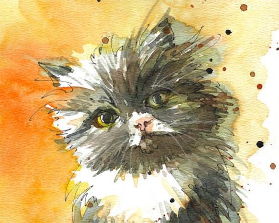 Pet Portrait, Custom Portrait, Original watercolor portrait of your pet