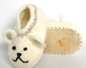 Polly Bear felted baby shoes 0 to 24 months