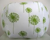 """24"""" Pouf Ottoman Floor Pillow Premier Prints Dandelion White Chartreuse"""